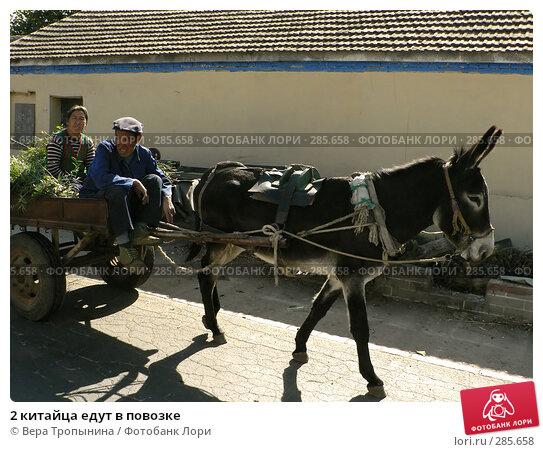 2 китайца едут в повозке, фото № 285658, снято 28 мая 2017 г. (c) Вера Тропынина / Фотобанк Лори