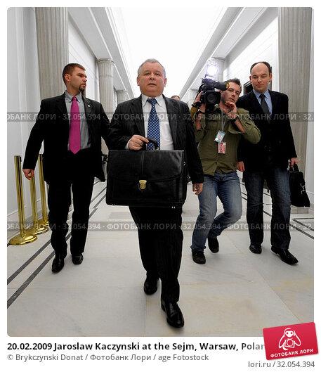 20.02.2009 Jaroslaw Kaczynski at the Sejm, Warsaw, Poland. Редакционное фото, фотограф Brykczynski Donat / age Fotostock / Фотобанк Лори
