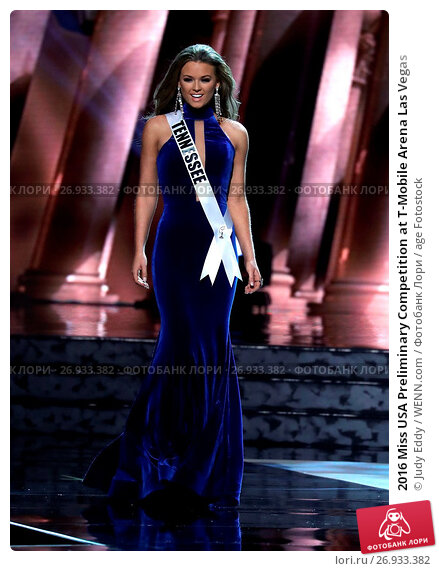 2016 Miss USA Preliminary Competition at T-Mobile Arena Las Vegas Featuring: Miss Tennessee, Hope Samantha Stevens Where: Las Vegas, Nevada, United States When: 01 Jun 2016 Credit: Judy Eddy/WENN.com, фото № 26933382, снято 1 июня 2016 г. (c) age Fotostock / Фотобанк Лори