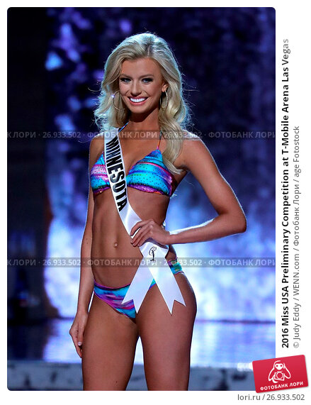2016 Miss USA Preliminary Competition at T-Mobile Arena Las Vegas Featuring: Miss Minnesota, Bridget Jacobs Where: Las Vegas, Nevada, United States When: 01 Jun 2016 Credit: Judy Eddy/WENN.com, фото № 26933502, снято 1 июня 2016 г. (c) age Fotostock / Фотобанк Лори