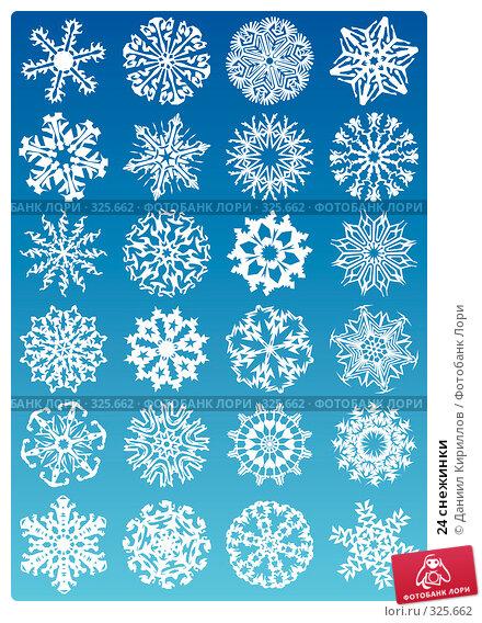 24 снежинки, иллюстрация № 325662 (c) Даниил Кириллов / Фотобанк Лори