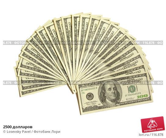 2500 долларов, фото № 116878, снято 5 февраля 2006 г. (c) Losevsky Pavel / Фотобанк Лори
