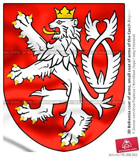 3D Bohemia coat of arms, small coat of arms of the Czech Republic... Стоковое фото, фотограф Zoonar.com/Inna Popkova / easy Fotostock / Фотобанк Лори