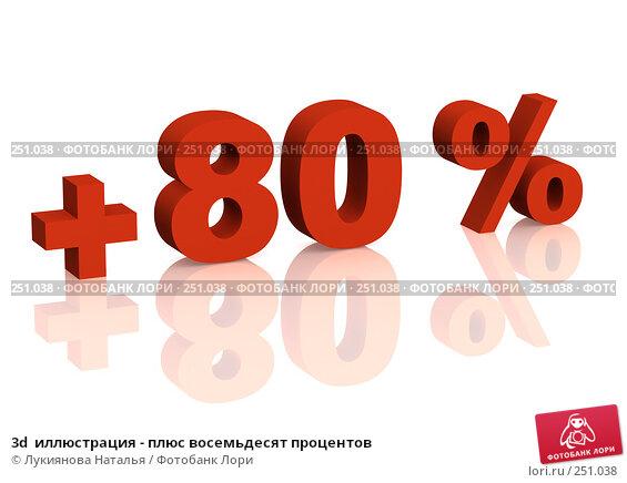 Купить «3d  иллюстрация - плюс восемьдесят процентов», иллюстрация № 251038 (c) Лукиянова Наталья / Фотобанк Лори