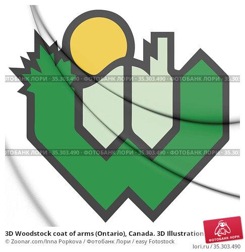 3D Woodstock coat of arms (Ontario), Canada. 3D Illustration. Стоковое фото, фотограф Zoonar.com/Inna Popkova / easy Fotostock / Фотобанк Лори
