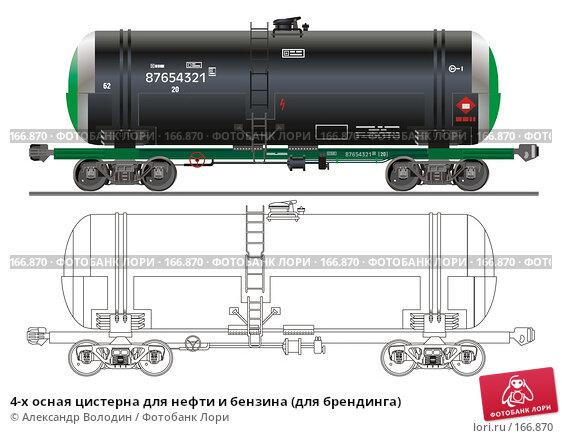 4-х осная цистерна для нефти и бензина (для брендинга), иллюстрация № 166870 (c) Александр Володин / Фотобанк Лори