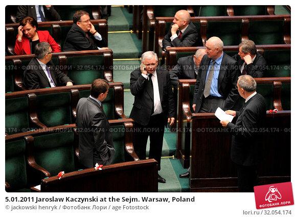 5.01.2011 Jaroslaw Kaczynski at the Sejm. Warsaw, Poland. Редакционное фото, фотограф jackowski henryk / age Fotostock / Фотобанк Лори