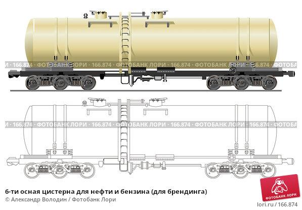 6-ти осная цистерна для нефти и бензина (для брендинга), иллюстрация № 166874 (c) Александр Володин / Фотобанк Лори