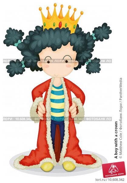 A boy with a crown. Стоковая иллюстрация, иллюстратор Matthew Cole / PantherMedia / Фотобанк Лори