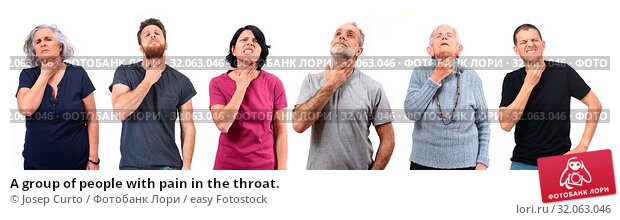 A group of people with pain in the throat. Стоковое фото, фотограф Josep Curto / easy Fotostock / Фотобанк Лори