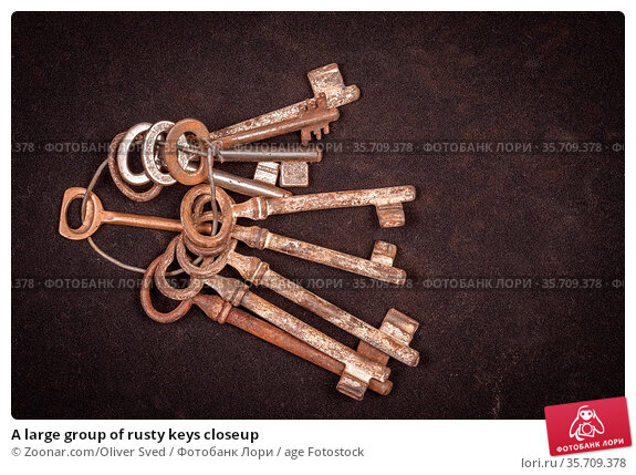 A large group of rusty keys closeup. Стоковое фото, фотограф Zoonar.com/Oliver Sved / age Fotostock / Фотобанк Лори