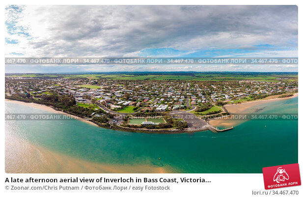 A late afternoon aerial view of Inverloch in Bass Coast, Victoria... Стоковое фото, фотограф Zoonar.com/Chris Putnam / easy Fotostock / Фотобанк Лори