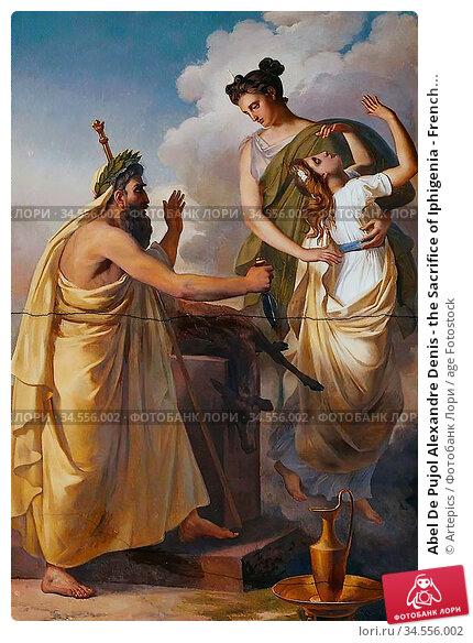 Abel De Pujol Alexandre Denis - the Sacrifice of Iphigenia - French... Редакционное фото, фотограф Artepics / age Fotostock / Фотобанк Лори