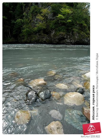 Абхазия. горная река, фото № 233922, снято 25 июля 2005 г. (c) Виктор Филиппович Погонцев / Фотобанк Лори