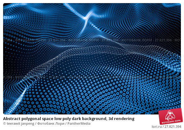 Купить «Abstract polygonal space low poly dark background, 3d rendering», фото № 27821394, снято 18 октября 2018 г. (c) PantherMedia / Фотобанк Лори