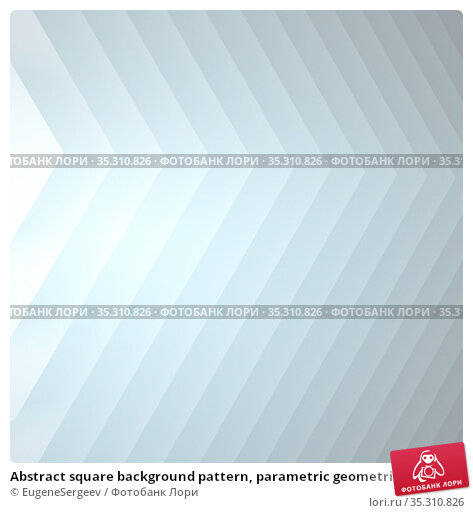 Abstract square background pattern, parametric geometric installation. Стоковая иллюстрация, иллюстратор EugeneSergeev / Фотобанк Лори