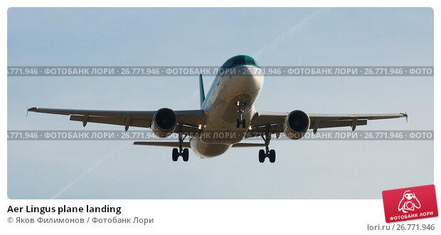 Купить «Aer Lingus plane landing», фото № 26771946, снято 9 марта 2017 г. (c) Яков Филимонов / Фотобанк Лори