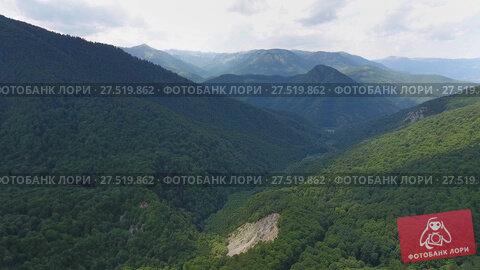 Купить «Aerial landscape with mountain in Montenegro», видеоролик № 27519862, снято 16 декабря 2017 г. (c) Михаил Коханчиков / Фотобанк Лори
