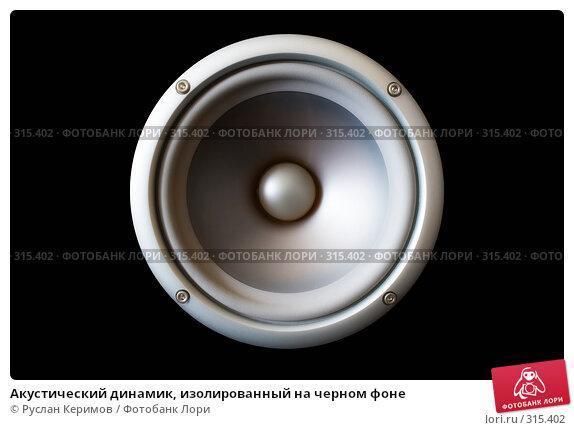 Акустический динамик, изолированный на черном фоне, фото № 315402, снято 29 мая 2008 г. (c) Руслан Керимов / Фотобанк Лори