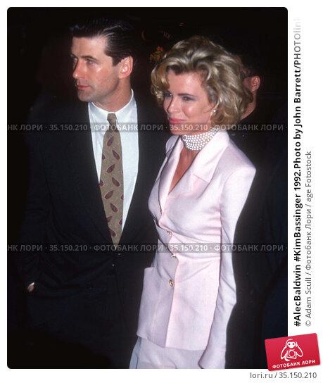 #AlecBaldwin #KimBassinger 1992.Photo by John Barrett/PHOTOlink.net... Редакционное фото, фотограф Adam Scull / age Fotostock / Фотобанк Лори