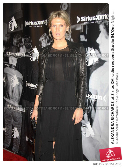 ALEXANDRA RICHARDS.at Sirius XM radio reopens Studio 54.'One Night... (2011 год). Редакционное фото, фотограф Adam Scull / age Fotostock / Фотобанк Лори