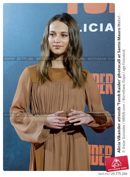 Купить «Alicia Vikander attends 'Tomb Raider' photocall at Santo Mauro Hotel in Madrid, Spain Featuring: Alicia Vikander Where: Madrid, Spain When: 28 Feb 2018 Credit: Oscar Gonzalez/WENN.com», фото № 29775286, снято 28 февраля 2018 г. (c) age Fotostock / Фотобанк Лори