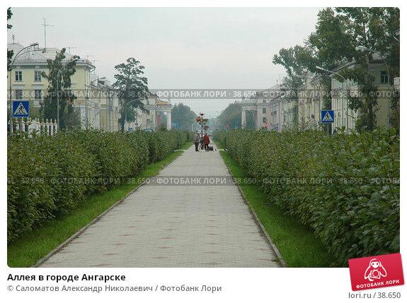 Аллея в городе Ангарске, фото № 38650, снято 8 сентября 2005 г. (c) Саломатов Александр Николаевич / Фотобанк Лори