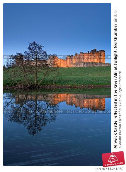 Купить «Alnwick Castle reflected in the River Aln at twilight, Northumberland, England, United Kingdom, Europe», фото № 14241150, снято 3 февраля 2020 г. (c) age Fotostock / Фотобанк Лори