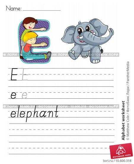 Alphabet worksheet. Стоковая иллюстрация, иллюстратор Matthew Cole / PantherMedia / Фотобанк Лори