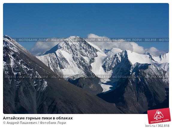 Алтайские горные пики в облаках, фото № 302818, снято 19 августа 2017 г. (c) Андрей Пашкевич / Фотобанк Лори