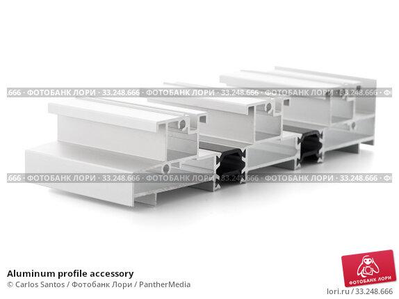 Купить «Aluminum profile accessory», фото № 33248666, снято 30 марта 2020 г. (c) PantherMedia / Фотобанк Лори