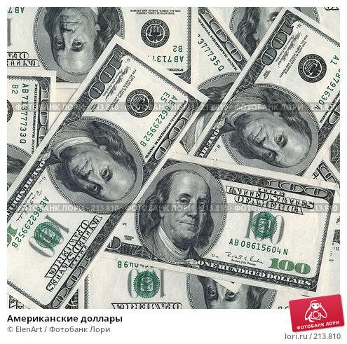 Американские доллары, фото № 213810, снято 27 мая 2017 г. (c) ElenArt / Фотобанк Лори