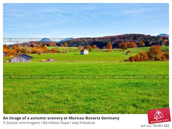 An image of a autumn scenery at Murnau Bavaria Germany. Стоковое фото, фотограф Zoonar.com/magann / easy Fotostock / Фотобанк Лори