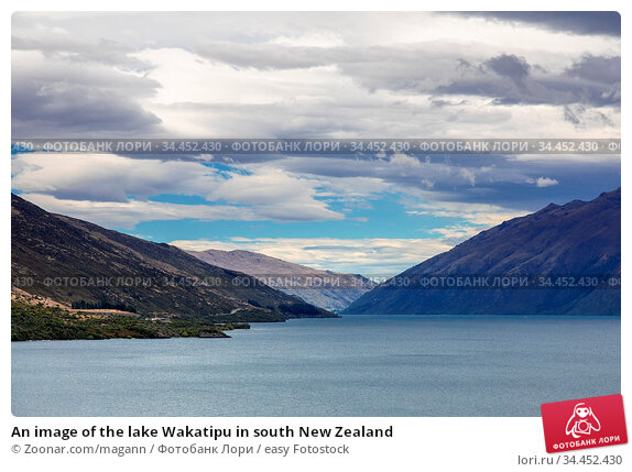 An image of the lake Wakatipu in south New Zealand. Стоковое фото, фотограф Zoonar.com/magann / easy Fotostock / Фотобанк Лори
