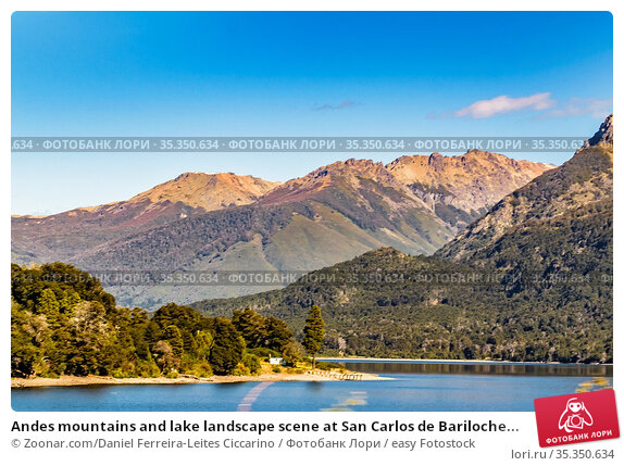 Andes mountains and lake landscape scene at San Carlos de Bariloche... Стоковое фото, фотограф Zoonar.com/Daniel Ferreira-Leites Ciccarino / easy Fotostock / Фотобанк Лори