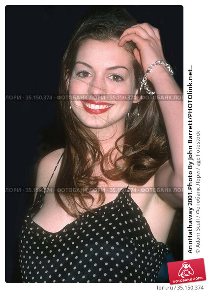 AnnHathaway 2001.Photo By John Barrett/PHOTOlink.net.. Редакционное фото, фотограф Adam Scull / age Fotostock / Фотобанк Лори