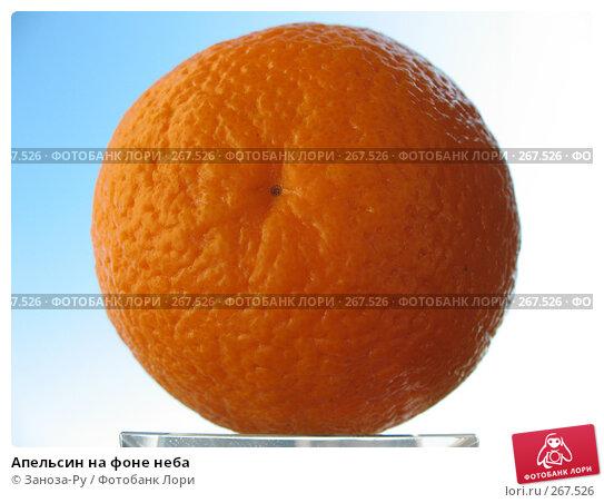 Апельсин на фоне неба, фото № 267526, снято 26 апреля 2008 г. (c) Заноза-Ру / Фотобанк Лори
