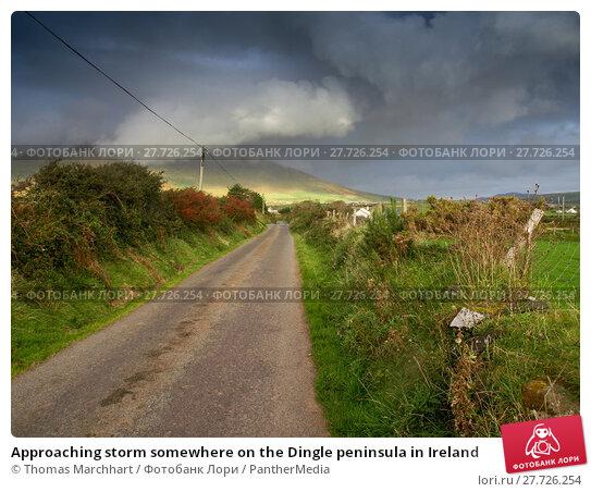 Купить «Approaching storm somewhere on the Dingle peninsula in Ireland», фото № 27726254, снято 24 апреля 2019 г. (c) PantherMedia / Фотобанк Лори