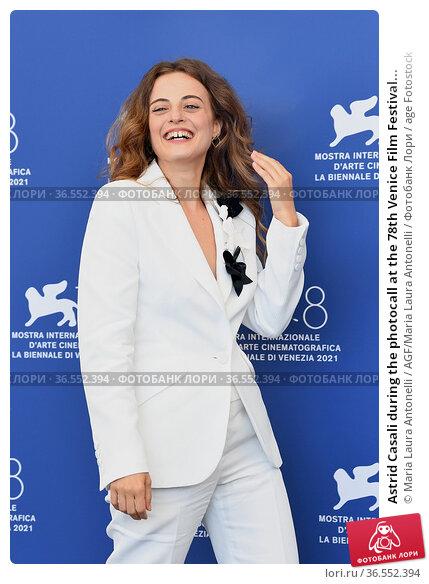 Astrid Casali during the photocall at the 78th Venice Film Festival... Редакционное фото, фотограф Maria Laura Antonelli / AGF/Maria Laura Antonelli / age Fotostock / Фотобанк Лори