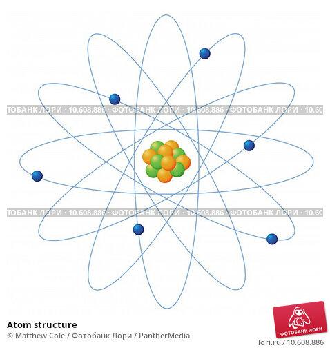 Atom structure. Стоковая иллюстрация, иллюстратор Matthew Cole / PantherMedia / Фотобанк Лори