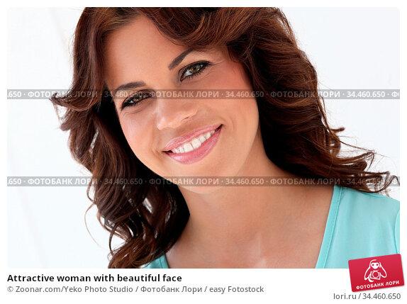 Attractive woman with beautiful face. Стоковое фото, фотограф Zoonar.com/Yeko Photo Studio / easy Fotostock / Фотобанк Лори