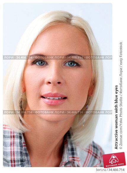 Attractive woman with blue eyes. Стоковое фото, фотограф Zoonar.com/Yeko Photo Studio / easy Fotostock / Фотобанк Лори