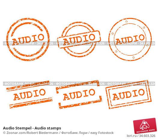 Audio Stempel - Audio stamps. Стоковое фото, фотограф Zoonar.com/Robert Biedermann / easy Fotostock / Фотобанк Лори