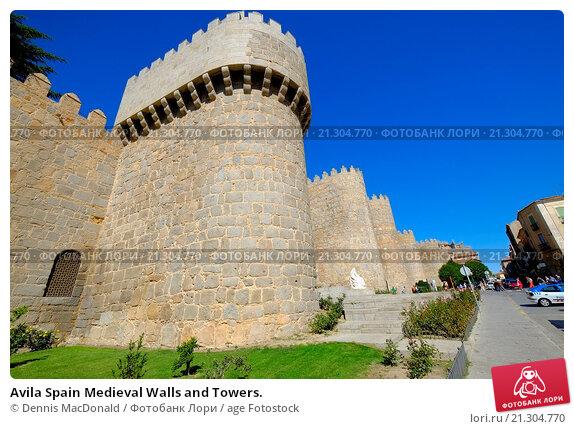 Купить «Avila Spain Medieval Walls and Towers.», фото № 21304770, снято 22 сентября 2015 г. (c) age Fotostock / Фотобанк Лори
