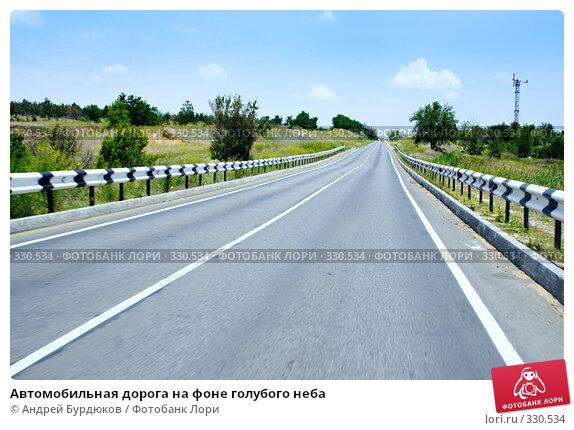 Купить «Автомобильная дорога на фоне голубого неба», фото № 330534, снято 18 июня 2008 г. (c) Андрей Бурдюков / Фотобанк Лори