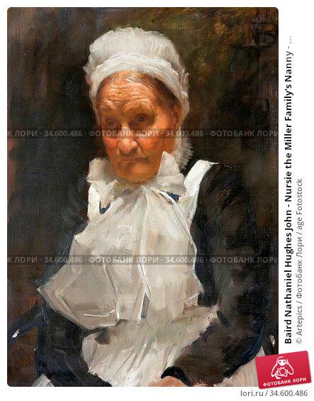 Baird Nathaniel Hughes John - Nursie the Miller Family's Nanny - ... Стоковое фото, фотограф Artepics / age Fotostock / Фотобанк Лори