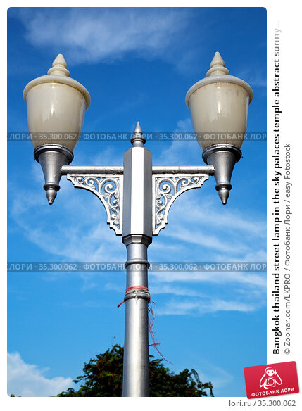 Bangkok thailand street lamp in the sky palaces temple abstract sunny... Стоковое фото, фотограф Zoonar.com/LKPRO / easy Fotostock / Фотобанк Лори