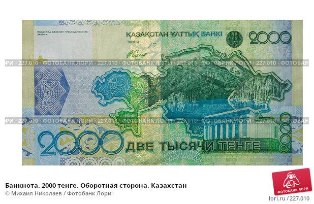Купить «Банкнота. 2000 тенге. Оборотная сторона. Казахстан», фото № 227010, снято 19 марта 2008 г. (c) Михаил Николаев / Фотобанк Лори