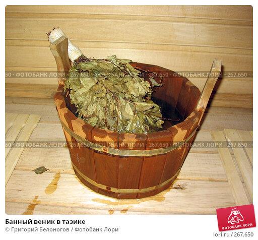 Банный веник в тазике, фото № 267650, снято 26 ноября 2003 г. (c) Григорий Белоногов / Фотобанк Лори