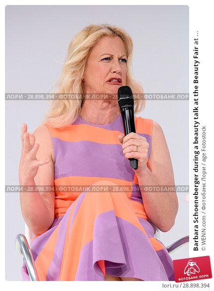 Купить «Barbara Schoeneberger during a beauty talk at the Beauty Fair at Duesseldorf Messe. Featuring: Barbara Schoeneberger Where: Duesseldorf, Germany When: 02 Apr 2017 Credit: WENN.com», фото № 28898394, снято 2 апреля 2017 г. (c) age Fotostock / Фотобанк Лори